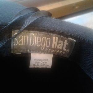 NWOT San Diego Hat Co. Black Felt Hat